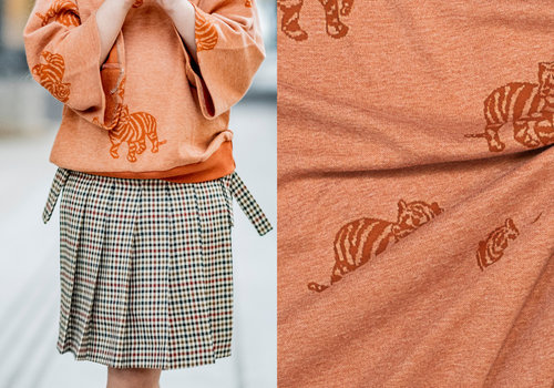 Fibre Mood Jacquard Tricot Minnie - Rust