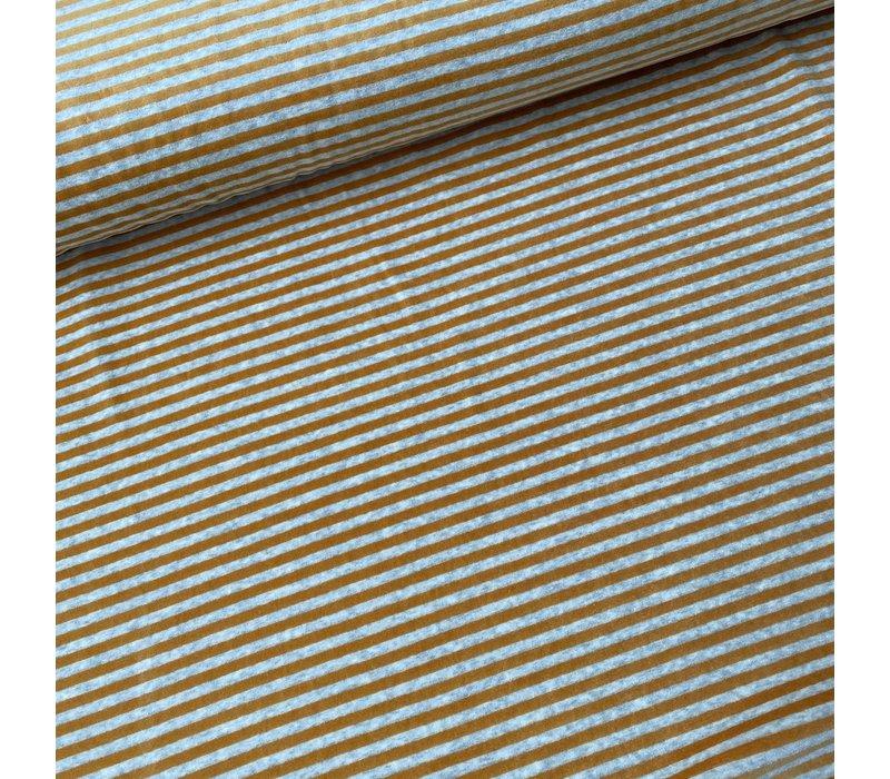 Nicky Velours Stripes grey//warm Oker