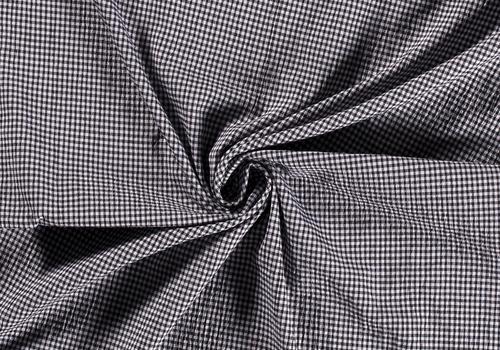 De Stoffenkamer Seersucker Cotton - checks Black