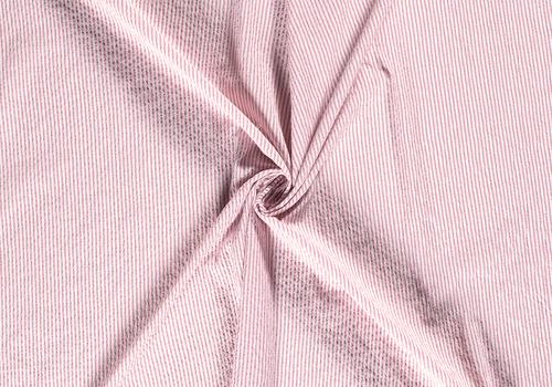 De Stoffenkamer Seersucker Cotton - stripes Soft Pink