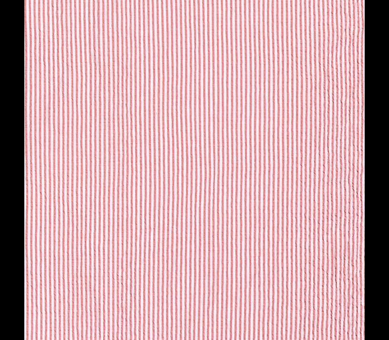 Seersucker Cotton - stripes Washed Red