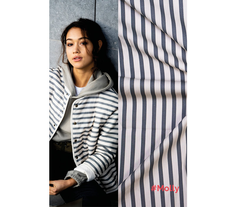 Stretch Cotton Molly - Stripes