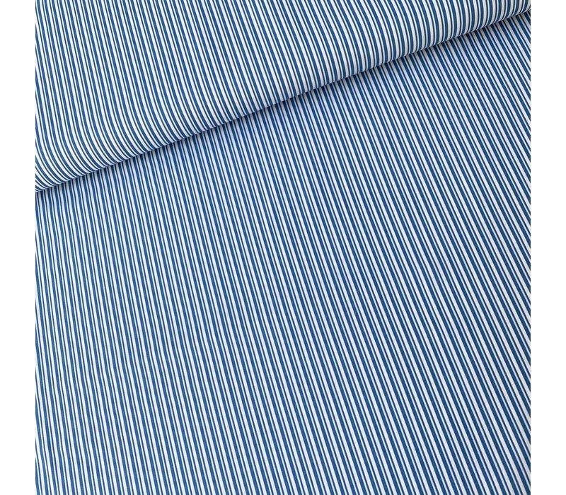 Cotton Classic Stripes - midblue