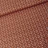 Cotton Mini Flowers - rust