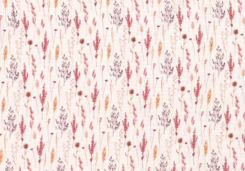 De Stoffenkamer Double Gauze Tetra Raspberry Twigs