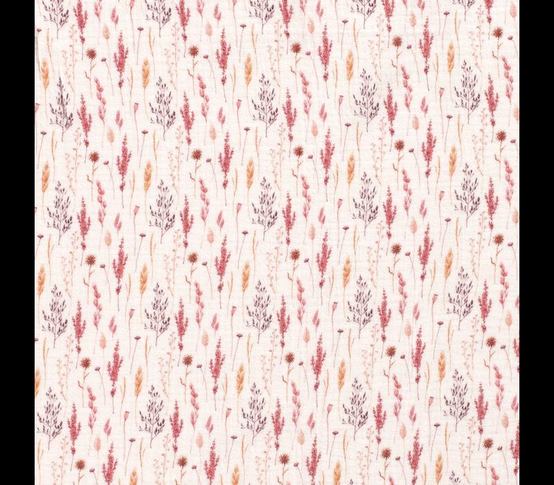 Double Gauze Tetra Raspberry Twigs