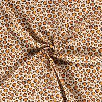 Double Gauze Tetra Leopard Creme