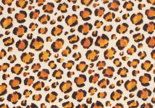De Stoffenkamer Double Gauze Tetra Leopard Creme