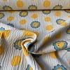 De Stoffenkamer Seersucker Jersey - soft yellow lions