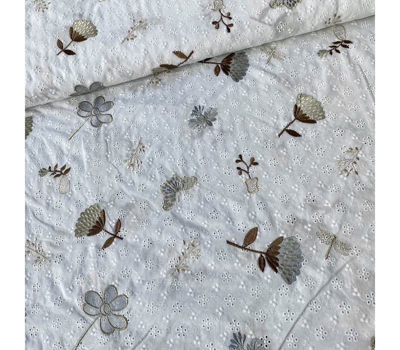 Cotton Embroidery  Flowers