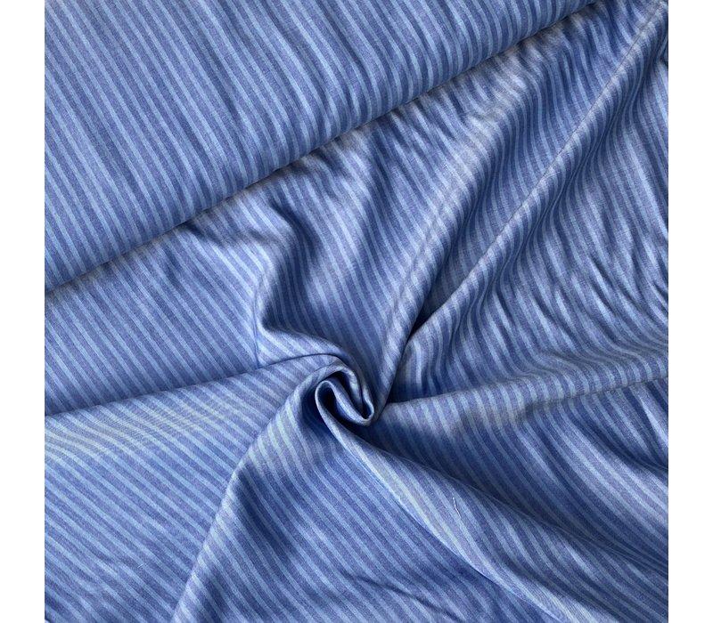 Tencel Twill - Denimblue Stripes
