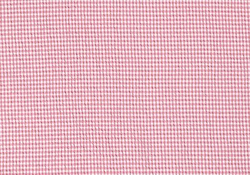 De Stoffenkamer Seersucker Cotton - checks Pink