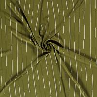 Blouse Chiffon Stripes Mossgreen