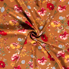 Blouse Chiffon Caramel Flowers Metallic