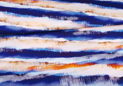 Editex Viscose Tricot Abstract Landscape