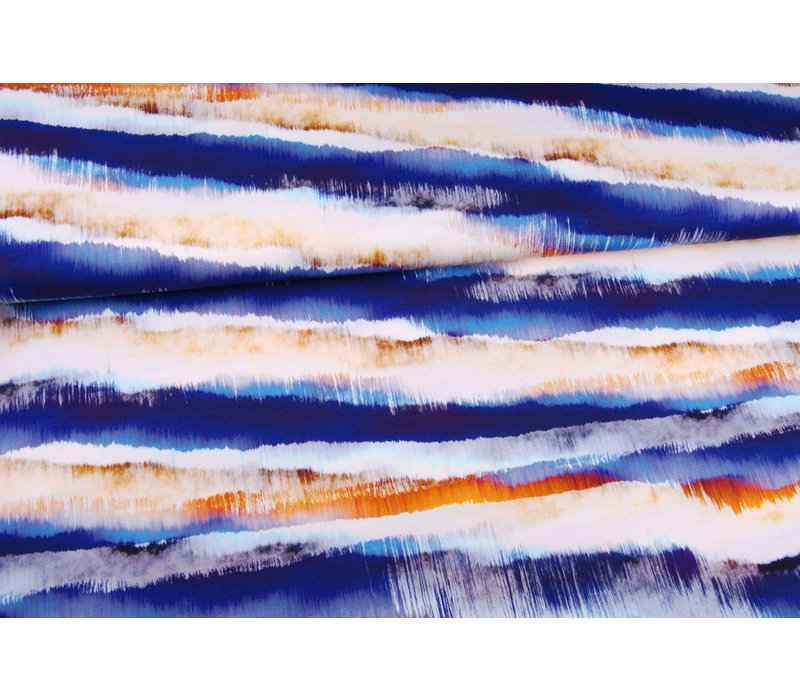 Viscose Tricot Abstract Landscape