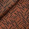 De Stoffenkamer WET Oilskin Zebra Rust