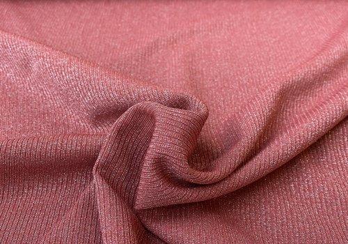 Bittoun Ribbed tricot - Raspberyy metallic sparkle
