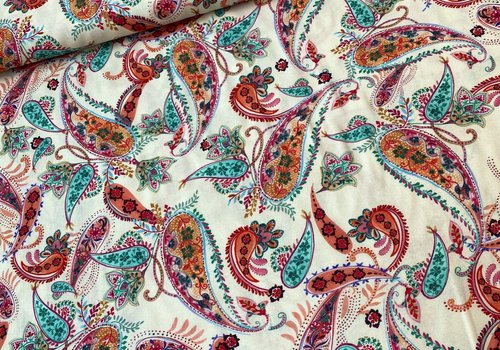 La Maison Victor Blouse Viscose Soft Creme Paisley