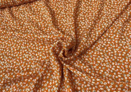 La Maison Victor Blouse Viscose Bright Orange mini flowers