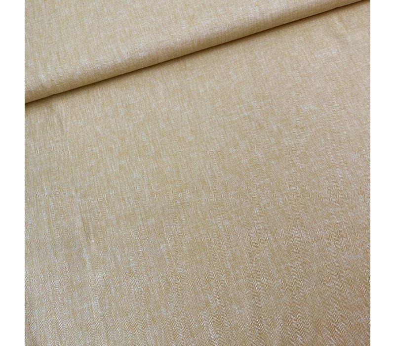 Linen Mix Ocre Herringbone