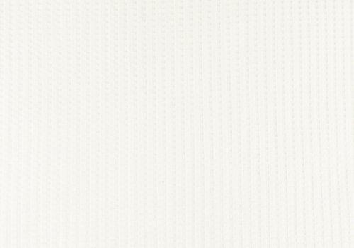 De Stoffenkamer Tricot Wafel - White