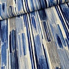 Kokka Cotton Linen Mix - blue stripes