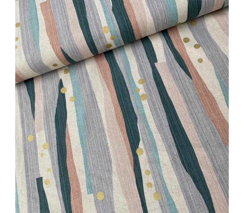 Trefle Metallic Canvas Linen