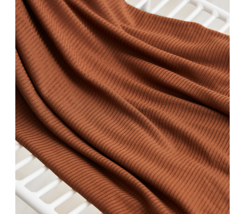 Derby Ribbed Jersey - Pecan
