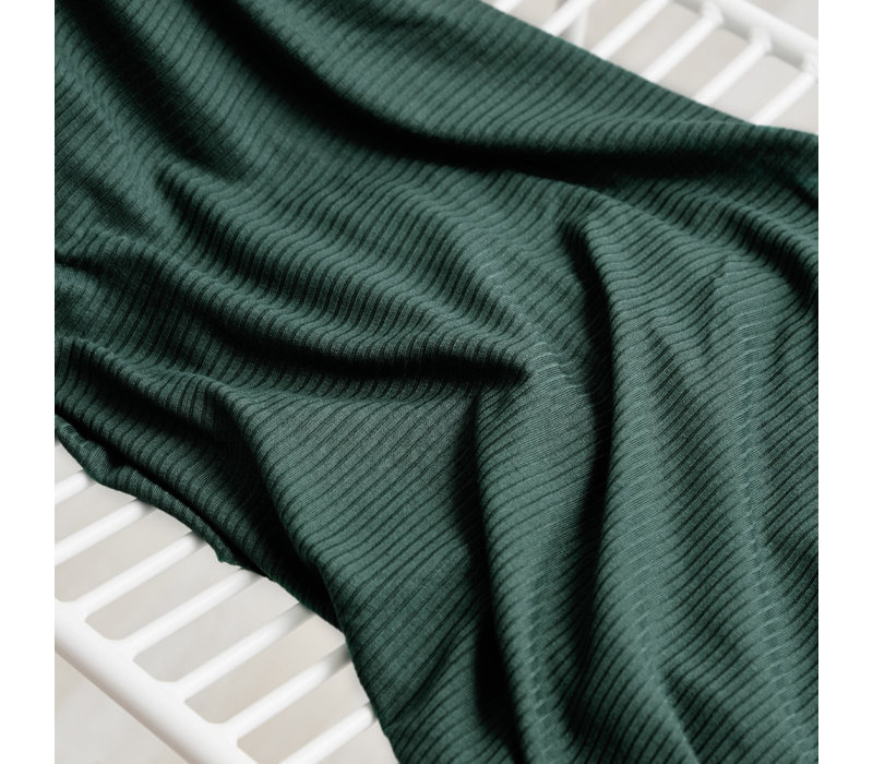 Derby Ribbed Jersey - Deep Green