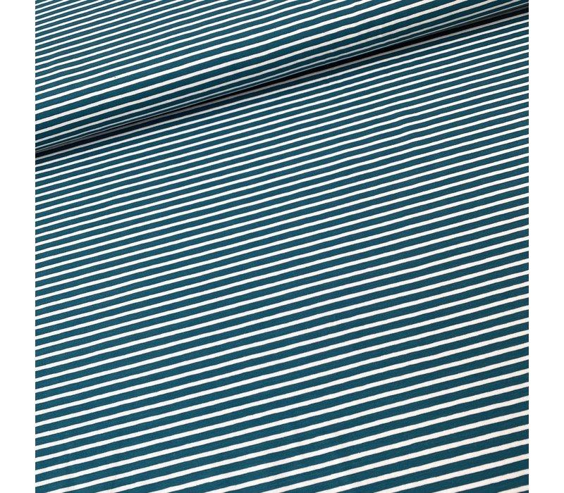 Tricot  Stripes Petrol//White