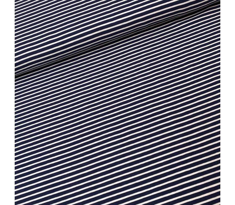 Tricot  Stripes White//Blue