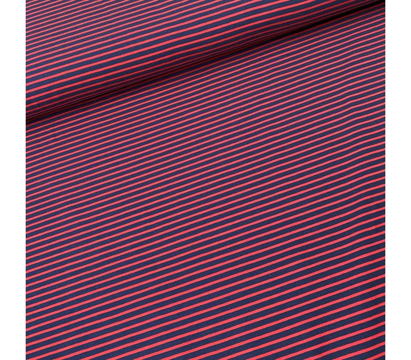 Tricot  Stripes Red//Blue