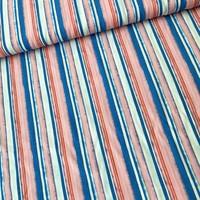 Blouse Viscose Stripes Aqua