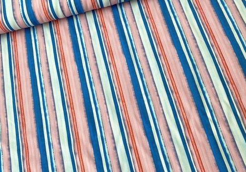 Bittoun Blouse Viscose Stripes Aqua