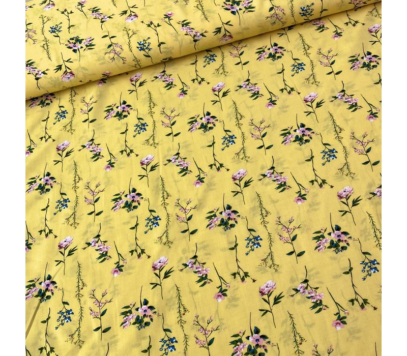 Blouse Viscose Spring Yellow Flowerfield