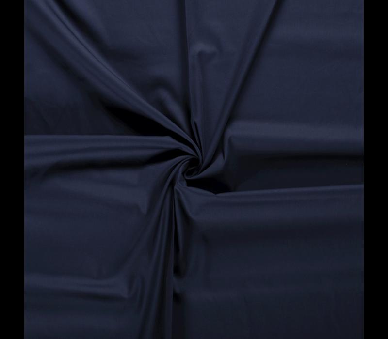 Effen katoen Donkerblauw