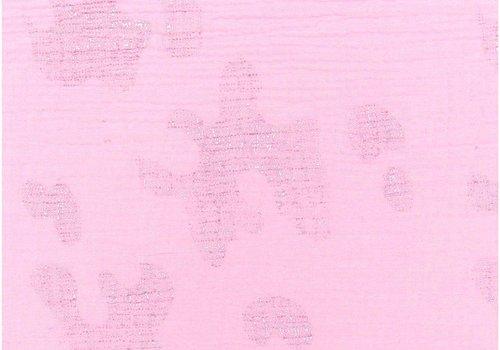 Rico Double Gauze tetra Pink Metallic