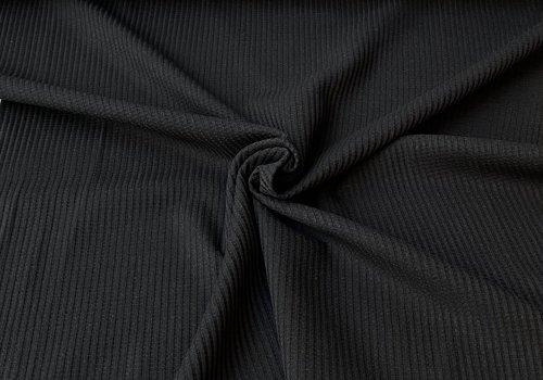 De Stoffenkamer Tricot Wafel - black