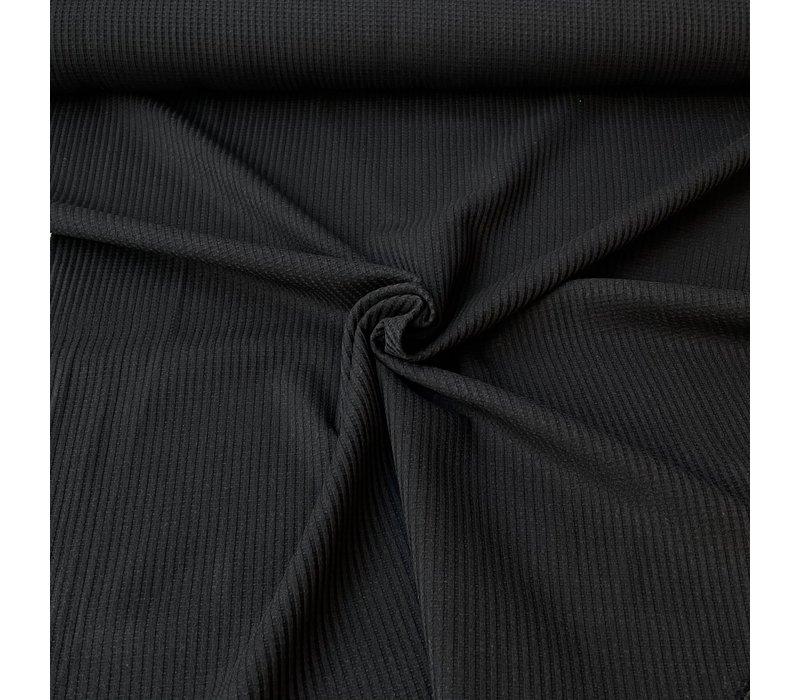 Tricot Wafel - black