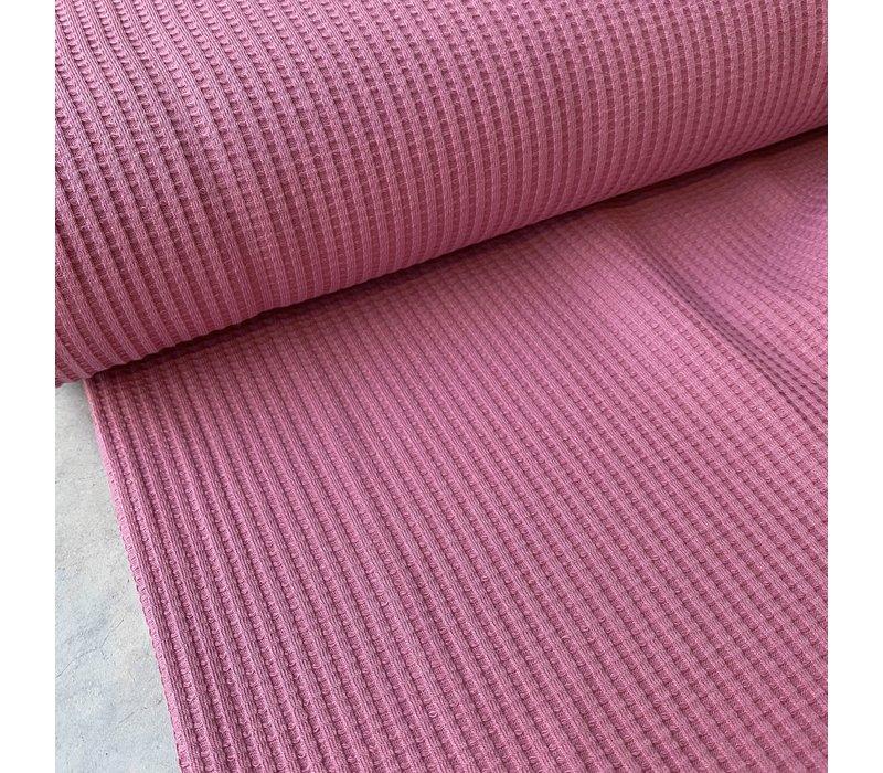 Tricot Wafel - Midden roze