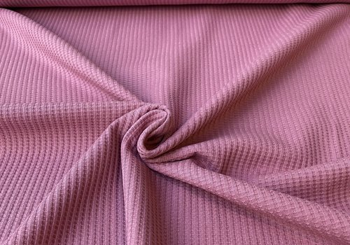 De Stoffenkamer Tricot Wafel - Midden roze