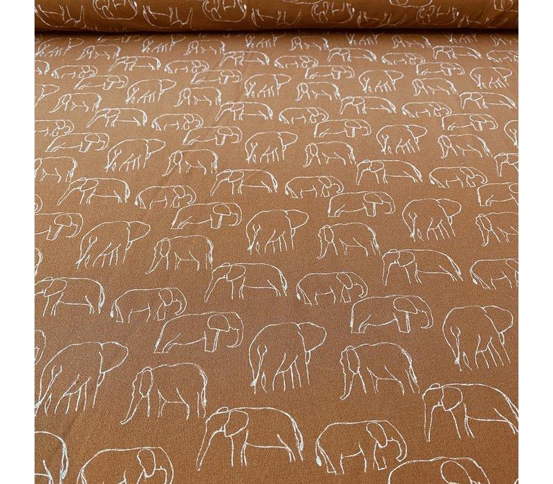 Tricot  Elephants Brick