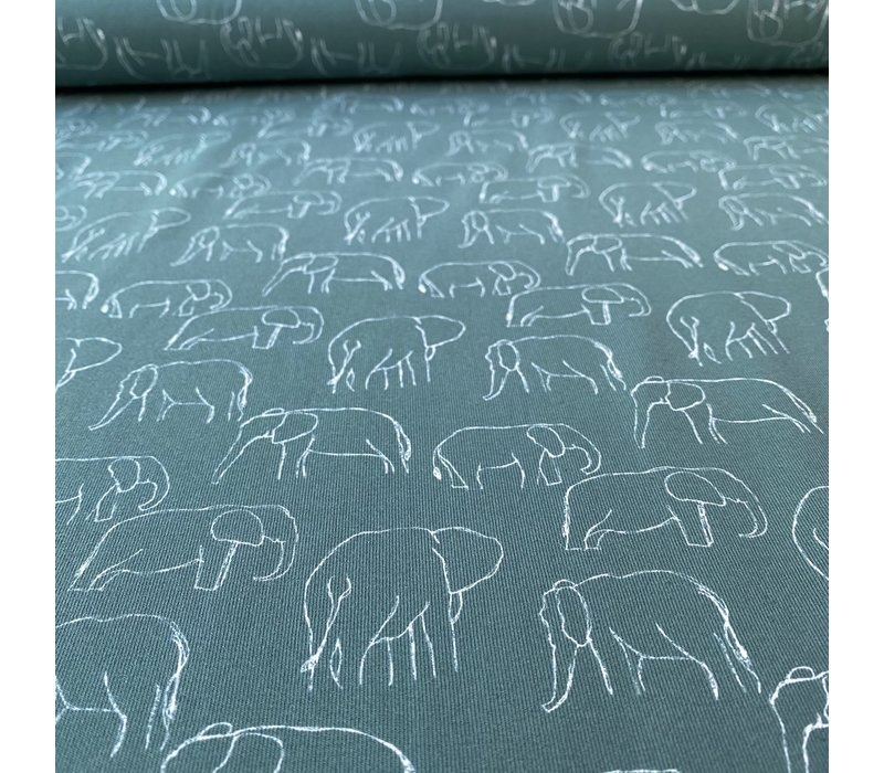 Tricot  Elephants Dark Sage