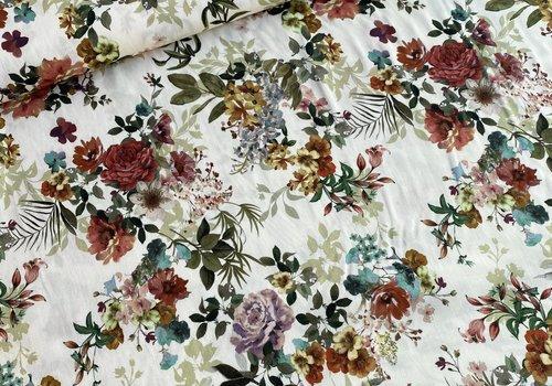 Editex Viscose Soft Creme Spring Bouquet