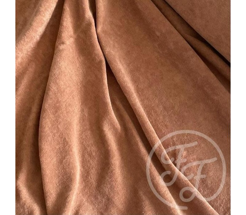 Rekbare badstof - spons camel