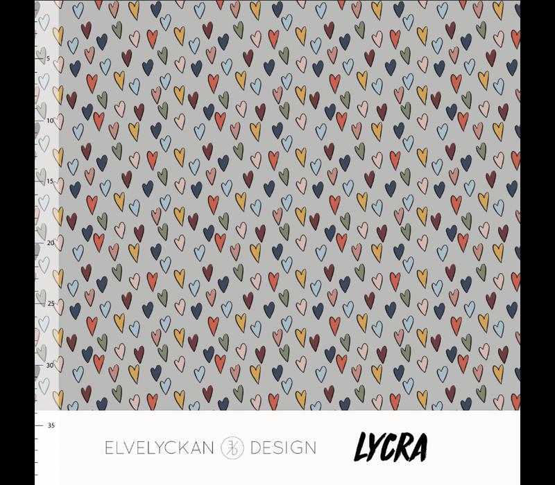 Swimwear Lycra - Hearts Desert