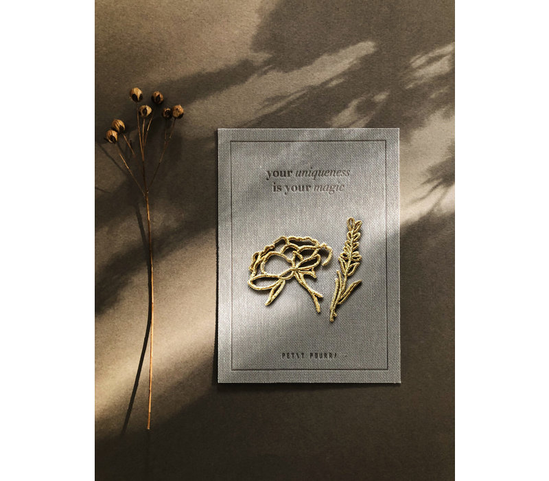 Strijkapplicatie Party Collection Bloom with grace bouquet