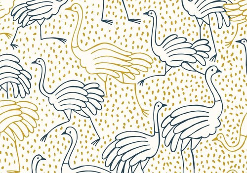 Katia Canvas - Gold Ostrich