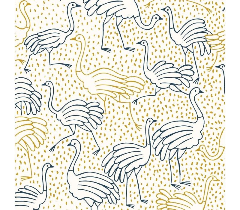 Canvas - Gold Ostrich